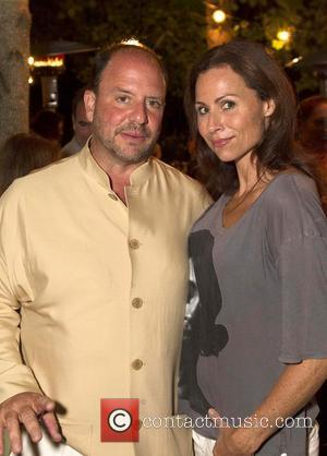 Barrett Wissman and Minnie Driver 'The 24 Hour Plays' after performance dinner at Wolf Family Vineyard Yountville, California - 14.07.12