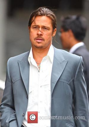 Brad Pitt filming a scene of his new movie 'The Counselor' on location in London The story is about a...