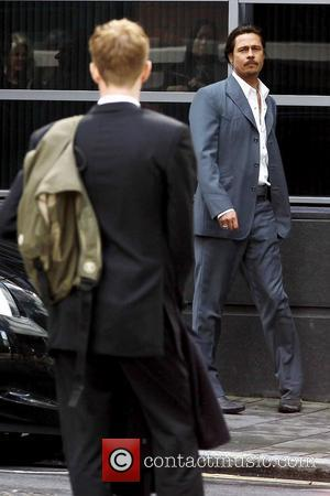 Brad Pitt  filming scenes for his new movie 'The Counselor' on location in London London, England - 04.08.12
