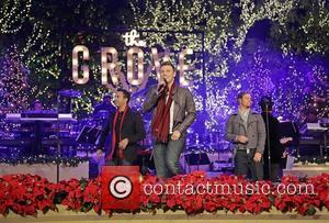 Backstreet Boys (L-R) Howie Dorough,Nick Carter, and Brian Littrell 10th Annual Hollywood Christmas Celebration at The Grove Los Angeles, California...