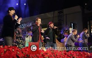 Backstreet Boys (L-R) Kevin Richardson,  Howie Dorough, A.J. McLean, Brian Littrell, and Nick Carter 10th Annual Hollywood Christmas Celebration...