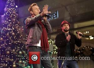 Backstreet Boys (L-R) Nick Carter and A.J. McLean 10th Annual Hollywood Christmas Celebration at The Grove Los Angeles, California -...