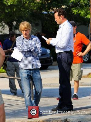 Owen Wilson and Vince Vaughn  on the film set of their new movie 'The Internship' in Atlanta Atlanta, USA...