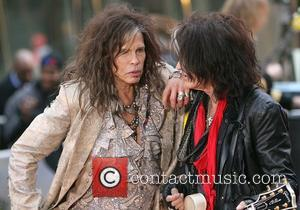 Steven Tyler and Joe Perry of Aerosmith  performing live during the 'Today Show' concert series in New York City...