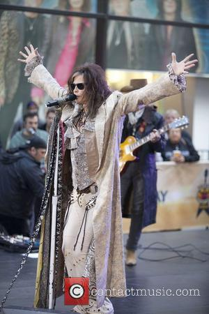 Steven Tyler Aerosmith performing live during the 'Today Show' concert series at the NBC Studios Rockerfeller Plaza in New York...