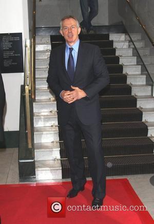 Protester Accuses Tony Blair Of War Crimes