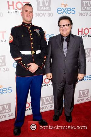 Staff Sgt Eric Worth and Wayne Knight  TV Land holiday premiere party for 'Hot in Cleveland' & 'The Exes'...
