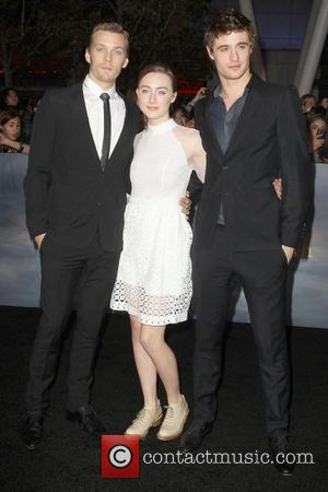 Max Irons, Saoirse Ronan, Jake Abel The premiere of 'The Twilight Saga: Breaking Dawn - Part 2' at Nokia Theatre...