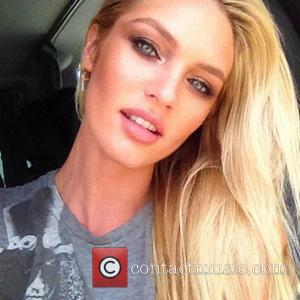 """Candice Swanepoel tweets this pic with the caption, '""""Hair and makeup today :)""""  29.05.12 Supplied by   WENN..."""