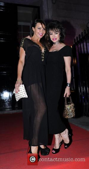 Lizzie Cundy leaving the UK Lingerie Awards held at One Mayfair London, England - 20.09.12