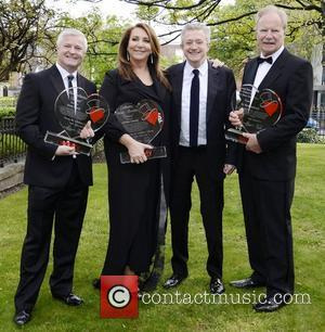 Derek O'Neill, Caroline Downey, Louis Walsh, Dr Fin Breatnach Variety Children's Charity Humanitarian Awards Gala Dinner at The Burlington Hotel...
