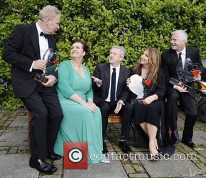 Dr Fin Breatnach, Doreen Smyth (Variety), Louis Walsh, Caroline Downey, Derek O'Neill Variety Children's Charity Humanitarian Awards Gala Dinner at...