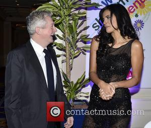 Louis Walsh, Ivian Sarcos (Miss World 2011) Variety Children's Charity Humanitarian Awards Gala Dinner at The Burlington Hotel Dublin, Ireland...