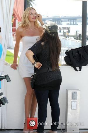 Candice Swanepoel Very Sexy Jet Tour Kick-off at Mondrian Miami  Miami Beach, Florida - 28.02.12