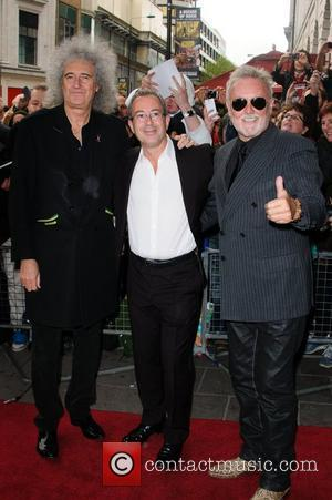 Brian May, Ben Elton and Roger Taylor 'We Will Rock You' 10th year anniversary performance - arrivals London, England -...