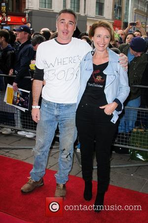 Greg Wise and Emma Thompson 'We Will Rock You' 10th year anniversary performance - arrivals London, England - 14.05.12