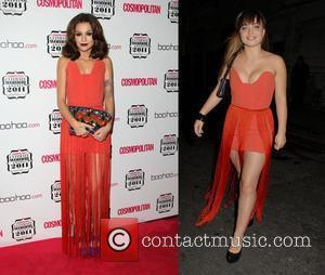 Who wore it best, Cher Lloyd or Sophie Habibis?  Cher Lloyd The Cosmopolitan's Ultimate Women Awards 2011 - Arrivals...