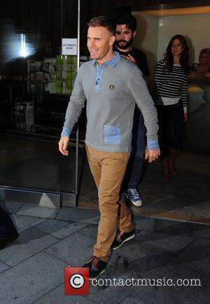 Gary Barlow leaving his hotel for the first day of boot camp Liverpool, England - 17.07.12