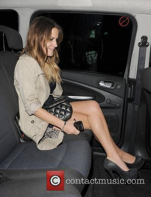 X Factor presenter Caroline Flack. The X Factor wrap party, held at DSTRKT club. London, England - 14.12.11