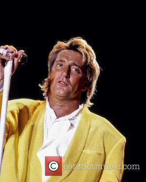 Rod Stewart performs live at the MTK Stadium in 1991 as part of his Vagabond World Tour - Budapest, Hungary...