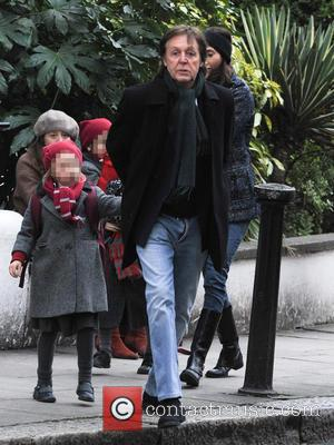 Paul McCartney and Beatrice McCartney - Paul McCartney and family out and about in Notting Hill London United Kingdom Tuesday...