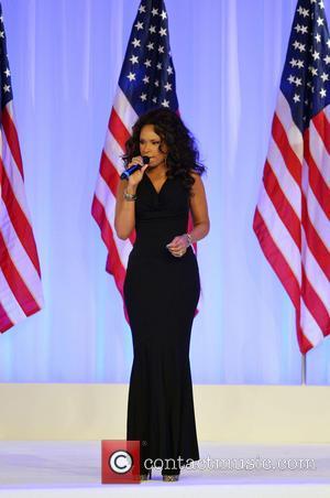 Jennifer Hudson - President Barack Obama and first lady Michelle...