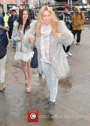 Lacey Banghard and Meg Mathews - Lacey Banghard photocall London United Kingdom Tuesday 22nd January 2013