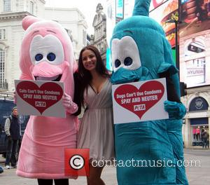 Lacey Banghard - Lacey Banghard at a photocall for PETA at Piccadilly Circus London United Kingdom Tuesday 22nd January 2013