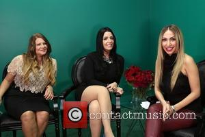 Karen Gravano, Ramona Rizzo and Diana Madison - 'Mob Wives' Karen Gravano and Ramona Rizzo on the set of Hollyscoop...