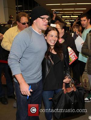 Matt Damon - Celebrities arriving at LAX airport