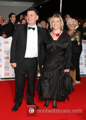 Steven Moffat and wife - The National Television Awards (NTA's) 2013 held at the O2 arena - Arrivals London United...