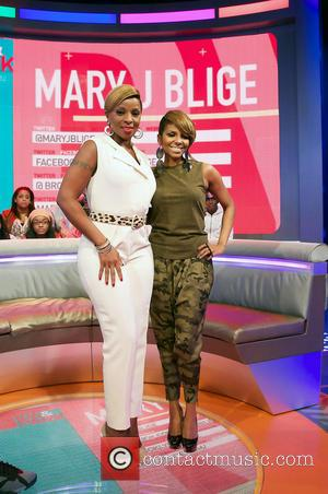 Mary J Blige and Mykel Gray - Mary J Blige On 106 & Park TV Show New York City USA...