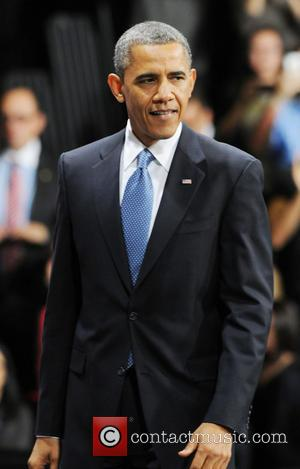 Barack Obama - U.S. President Barack Obama delivers a speech...