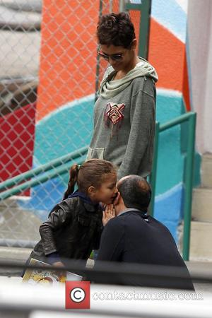 Halle Berry - Halle Berry takes her daughter Nahla Aubry to school Los Angeles California United States Tuesday 5th February...