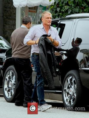 Dolph Lundgren - Dolph Lundgren and a friend go for lunch at the Ivy restaurant Los Angeles California USA Tuesday...