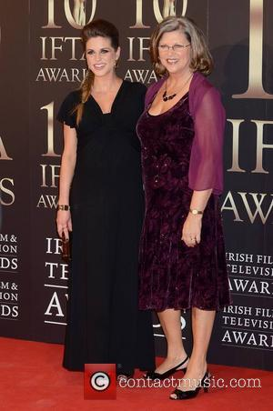 Amy Huberman and Sandra Huberman - Guests attend the 2013 IFTA Awards at The Convention Centre Dublin Ireland Saturday 9th...