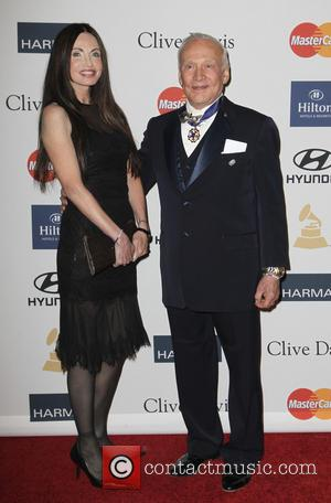 Carolyn Hollinsworth and Buzz Aldrin - Clive Davis 2013 Pre-Grammy Gala Los Angeles California USA Saturday 9th February 2013
