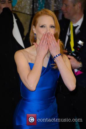 Jessica Chastain - Bafta Arrivals at British Academy Film Awards - London, United Kingdom - Sunday 10th February 2013