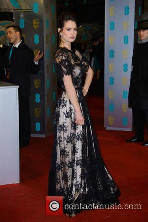 Lily James - Bafta Arrivals at British Academy Film Awards - London, United Kingdom - Sunday 10th February 2013