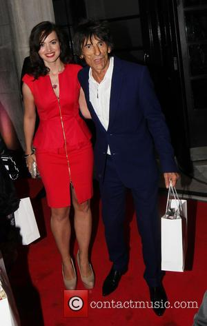 Ronnie Wood and Sally Humphries - Elle Style Awards Departures - London, United Kingdom - Monday 11th February 2013