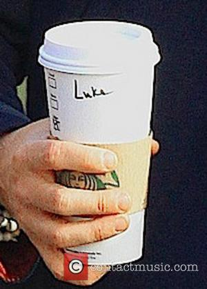 Lukas Haas and coffee - Lukas Haas at the Grove - Hollywood, California, USA - Wednesday 13th February 2013