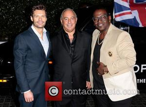 Ryan Seacrest, Sir Philip Green and Randy Jackson - Topshop Topman LA Opening Party - West Hollywood, California, United States...