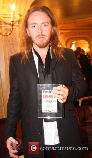 Tim Minchin - Whatsonstage.com Awards 2013 at the Palace Theatre - Inside at Palace Theatre - London, United Kingdom -...