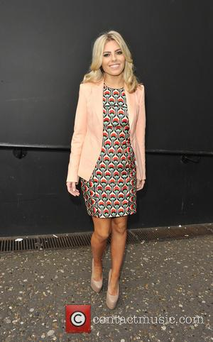 Mollie King - Fashion East Arrivals at London Fashion Week - London, United Kingdom - Monday 18th February 2013