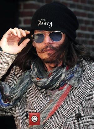 Johnny Depp - 'The Late Show With David Letterman' celebrities at Ed Sullivan Theater - New York, United States -...