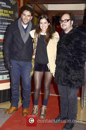 Eli Roth, Lorenza Izzo and Nicolas Lopez - UK Premiere of Aftershock - Glasgow, Scotland - Saturday 23rd February 2013
