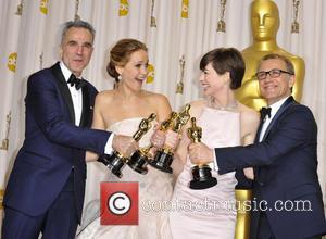 Daniel Day-lewis, Jennifer Lawrence, Anne Hathaway and Christoph Waltz