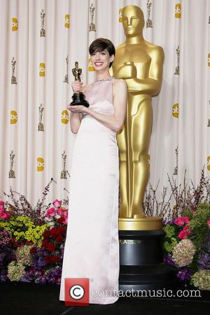 Anne Hathaway - Oscars Press Room at Oscars - Los Angeles, California, United States - Monday 25th February 2013
