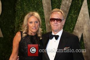 Peter Fonda and Margaret DeVogelaere - 2013 Vanity Fair Oscar Party at Sunset Tower - Arrivals - Los Angeles, California,...