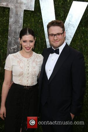 Seth Rogen and Lauren Miller - 2013 Vanity Fair Oscar Party at Sunset Tower - Arrivals - Los Angeles, California,...